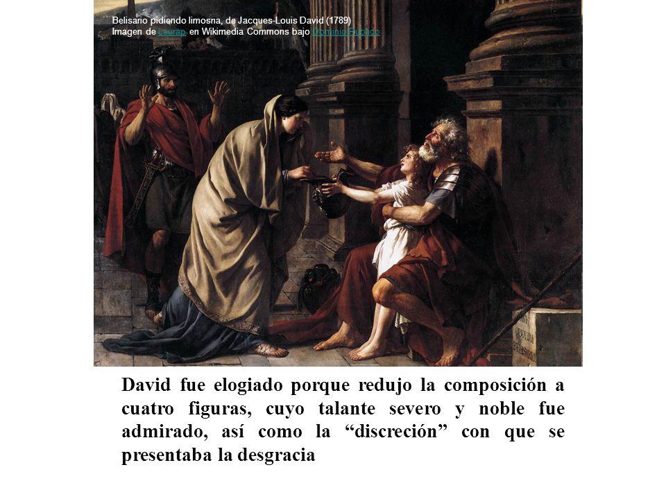 David fue elogiado porque redujo la composición a cuatro figuras, cuyo talante severo y noble fue admirado, así como la discreción con que se presenta