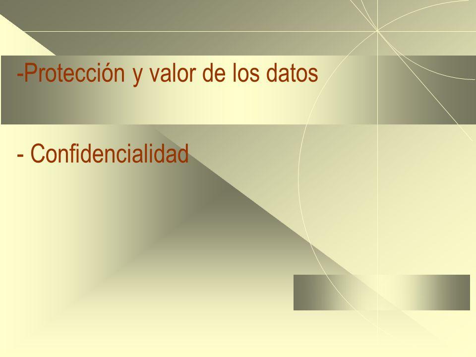 -Protección y valor de los datos - Confidencialidad