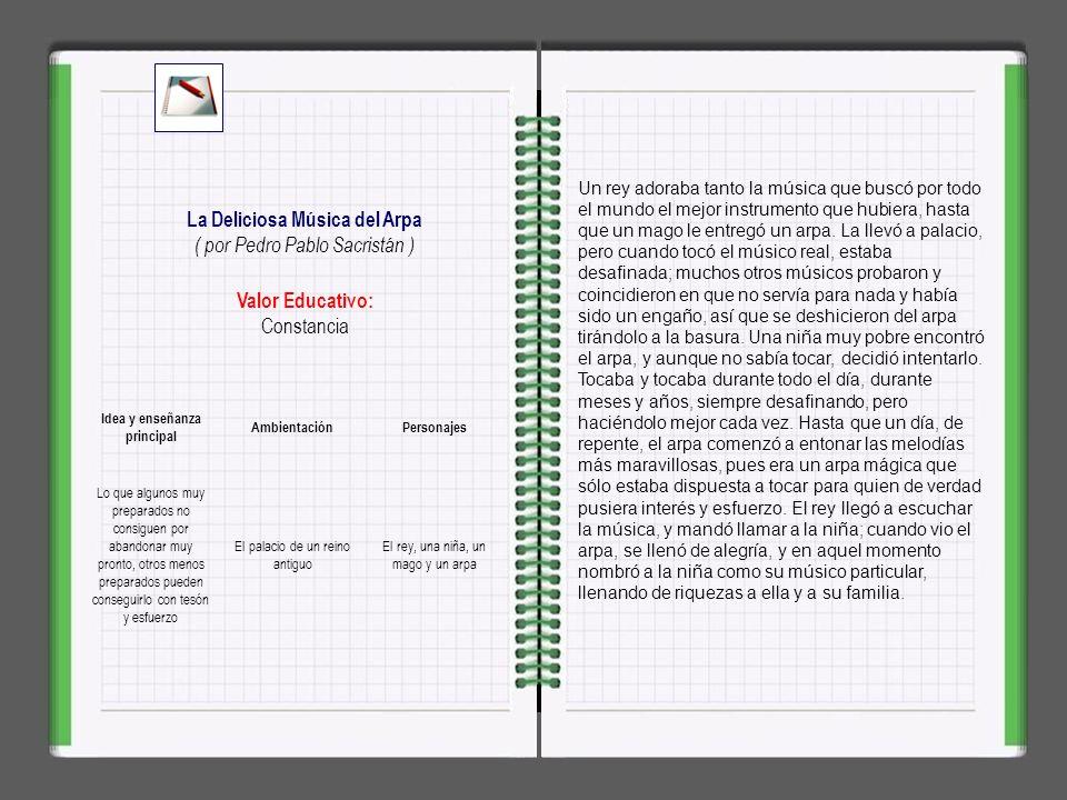 Valor Educativo: Consideración Tomás Tarambana y su Tambor ( por Pedro Pablo Sacristán ) Tomás Tarambana era un niño de plastilina naranja y azul que