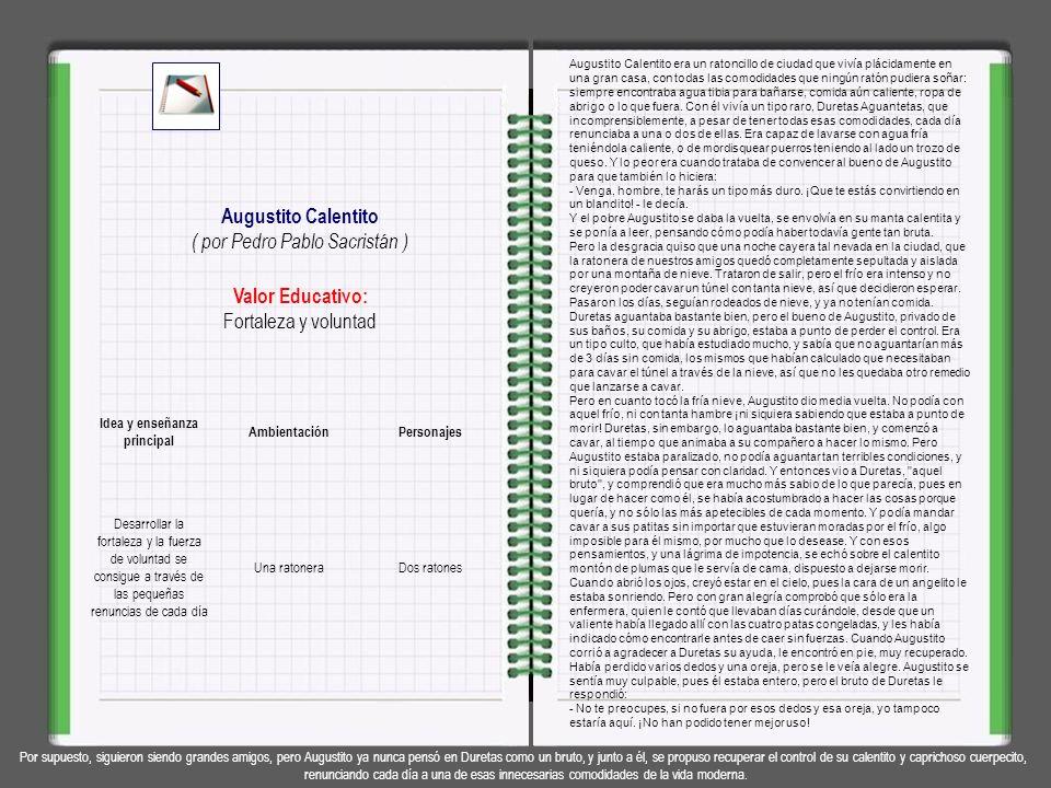 Valor Educativo: Espíritu de equipo, colaboración Los Problemillas del Arca ( por Pedro Pablo Sacristán ) En el arca de Noé los animales llevaban tant