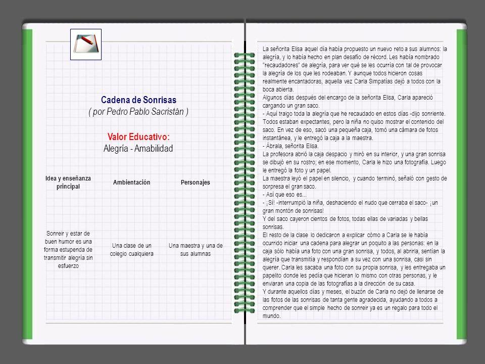 CUENTOSPARADORMIR.COM es una idea educativa diferente, que basándose en el poder educativo de las historias y los cuentos, pretende transmitir valores a nuestros niños a partir de cientos de cuentos escritos por Pedro Pablo Sacristán.