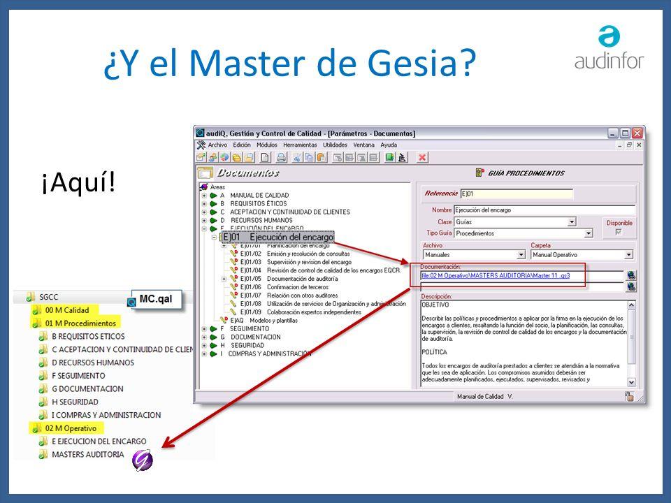 ¿Y el Master de Gesia? ¡Aquí!