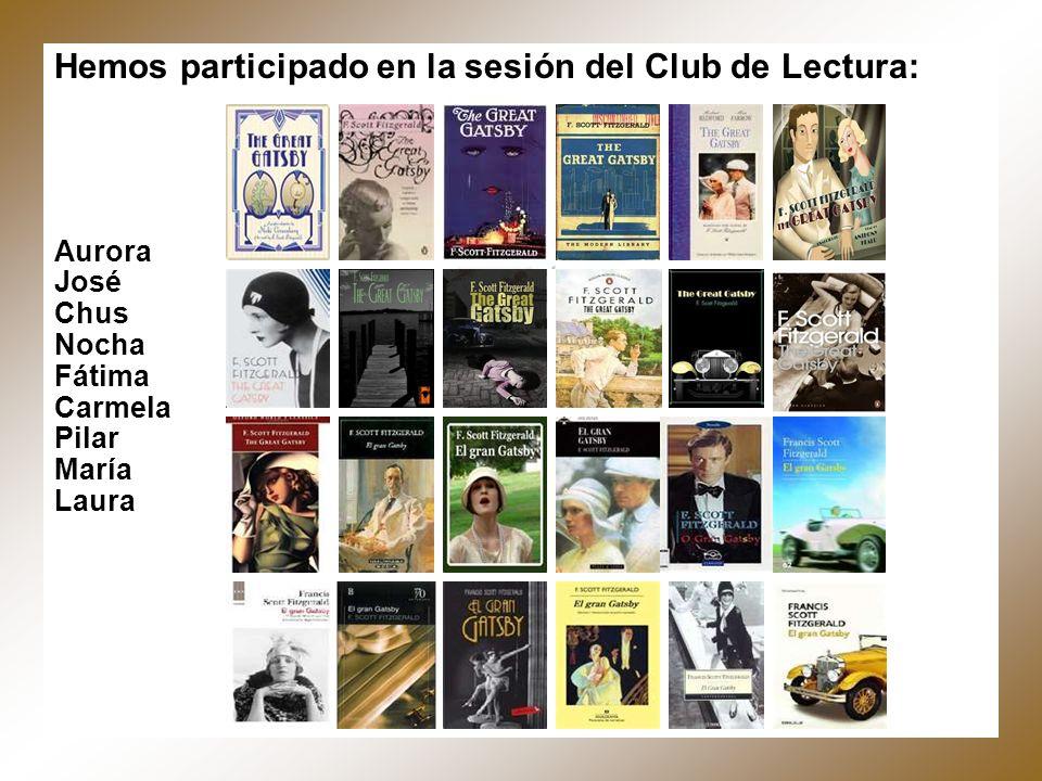 Hemos participado en la sesión del Club de Lectura: Aurora José Chus Nocha Fátima Carmela Pilar María Laura