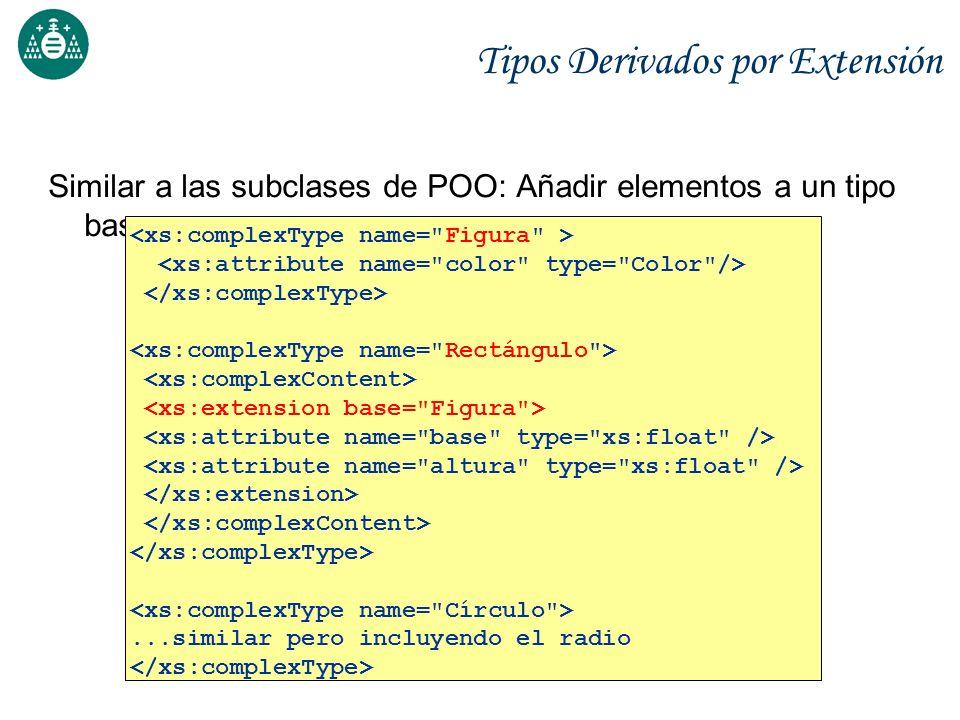 Tipos Derivados por Extensión Similar a las subclases de POO: Añadir elementos a un tipo base...similar pero incluyendo el radio