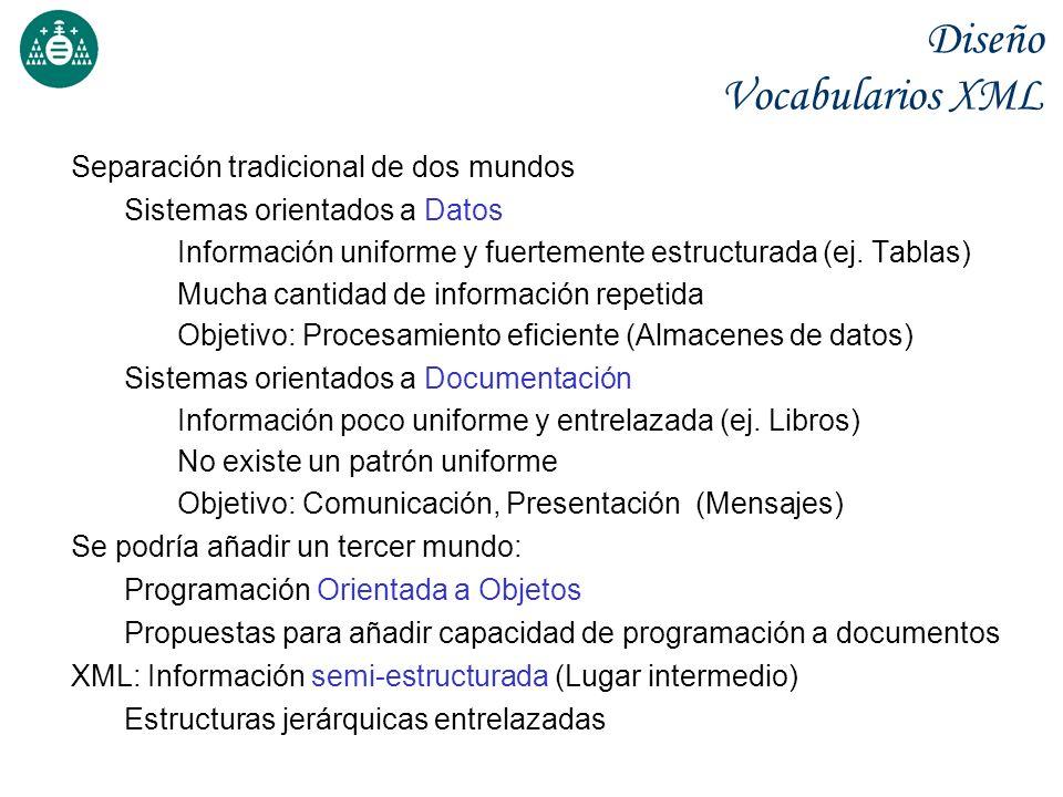 Separación tradicional de dos mundos Sistemas orientados a Datos Información uniforme y fuertemente estructurada (ej. Tablas) Mucha cantidad de inform