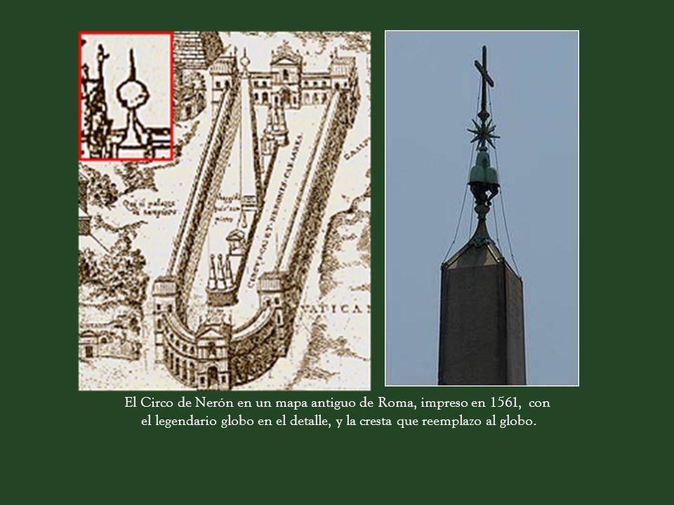 Fue el primer obelisco alzado en el período moderno y es el único de Roma que no ha caído desde los tiempos romanos. La esfera de bronce situado en la