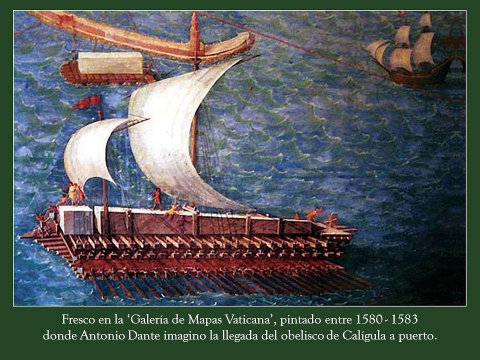 Una mole traída en barco el año 37 d.C desde la ciudad egipcia de Heliópolis por encargo del emperador Calígula, como trofeo de guerra para ser situad