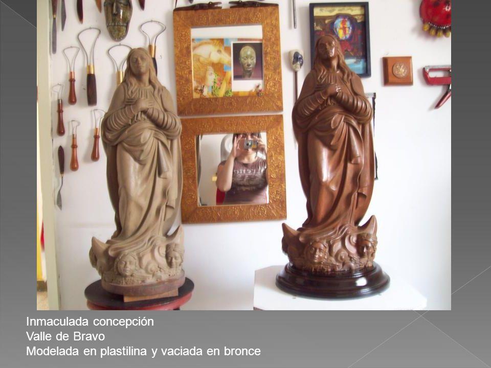 Inmaculada concepción Valle de Bravo Modelada en plastilina y vaciada en bronce