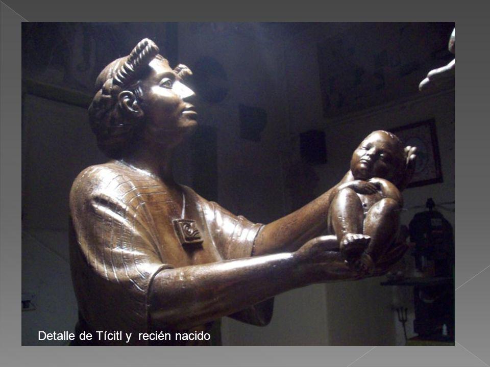 Detalle de Tícitl y recién nacido