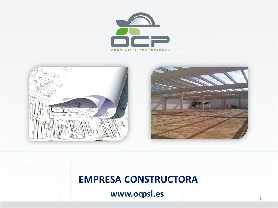 PRESENTACION DE LA COMPAÑIA www.ocpsl.es Origen La compañía OCP es el resultado final del proceso de consolidación de la sección de construcción de INELT, empresa instaladora y mantenedora fundada en 1995.