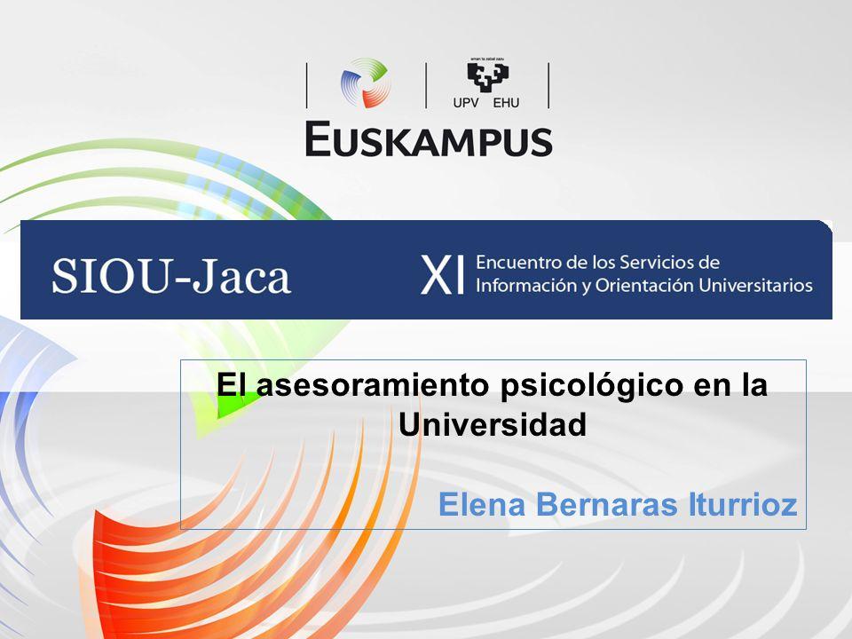 El asesoramiento psicológico en la Universidad Elena Bernaras Iturrioz