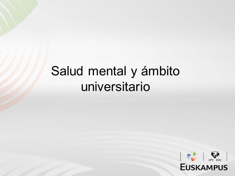 Salud mental y ámbito universitario