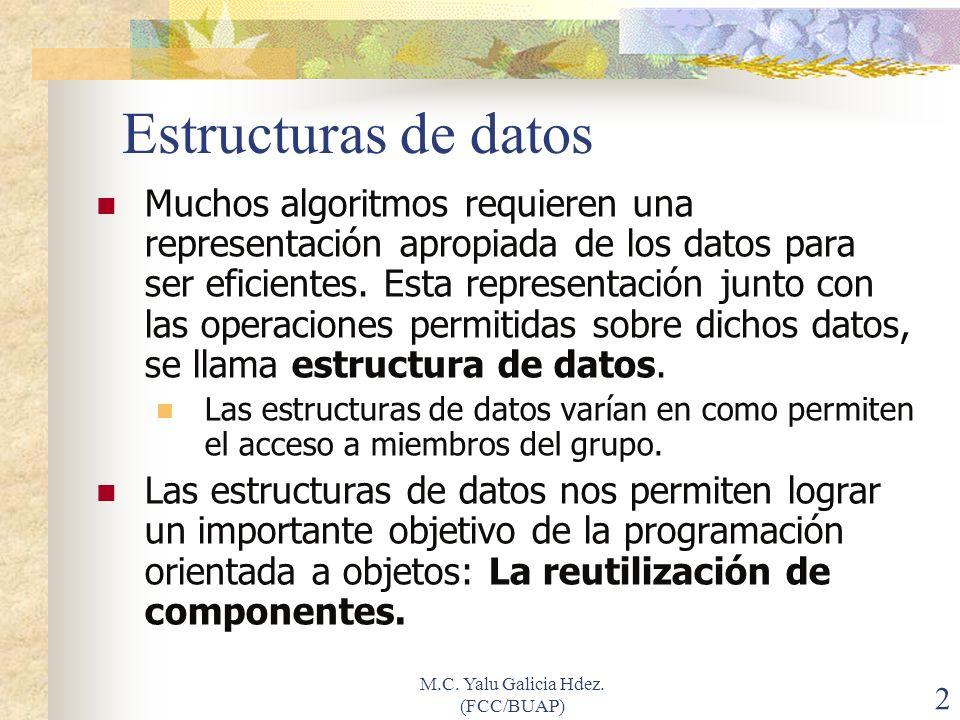 M.C. Yalu Galicia Hdez. (FCC/BUAP) 23 Actividad grupal (SOLUCION) Compartiendo la experiencia