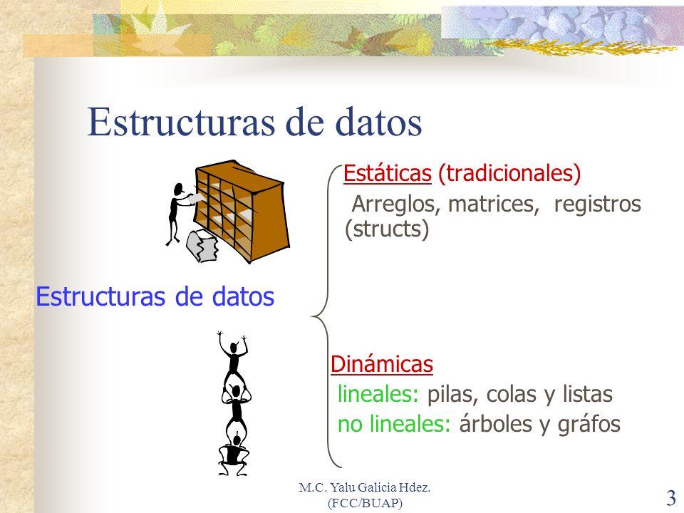 """La presentaci�n """"M.C. Yalu Galicia Hdez. (FCC/BUAP)1 Estructuras ..."""