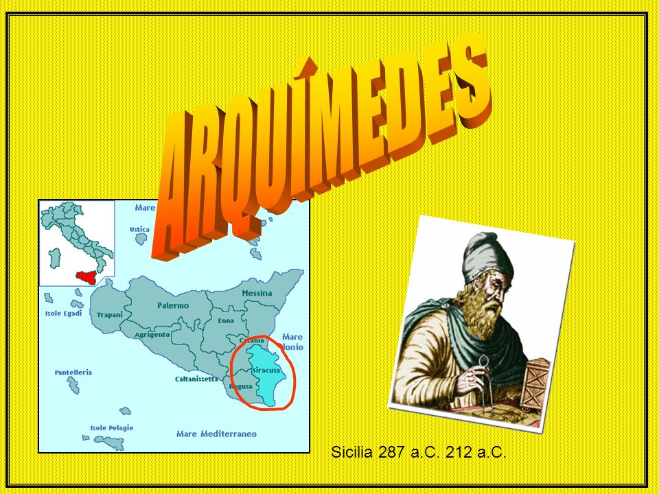 Sicilia 287 a.C. 212 a.C.