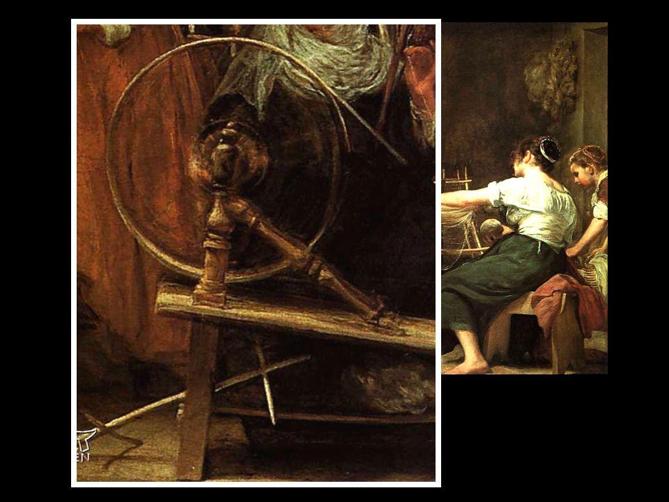 ATENEA ARACNE Las hilanderas (1657) /Museo del Prado (¿Atenea?) (¿Aracne?) Viola