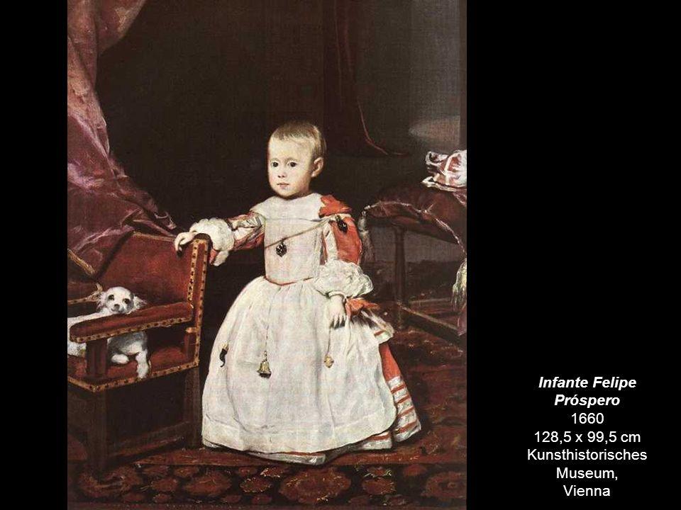 Retrato de la Infanta Margarita c. 1660 121 x 107 cm Museum of Fine Arts, Budapest