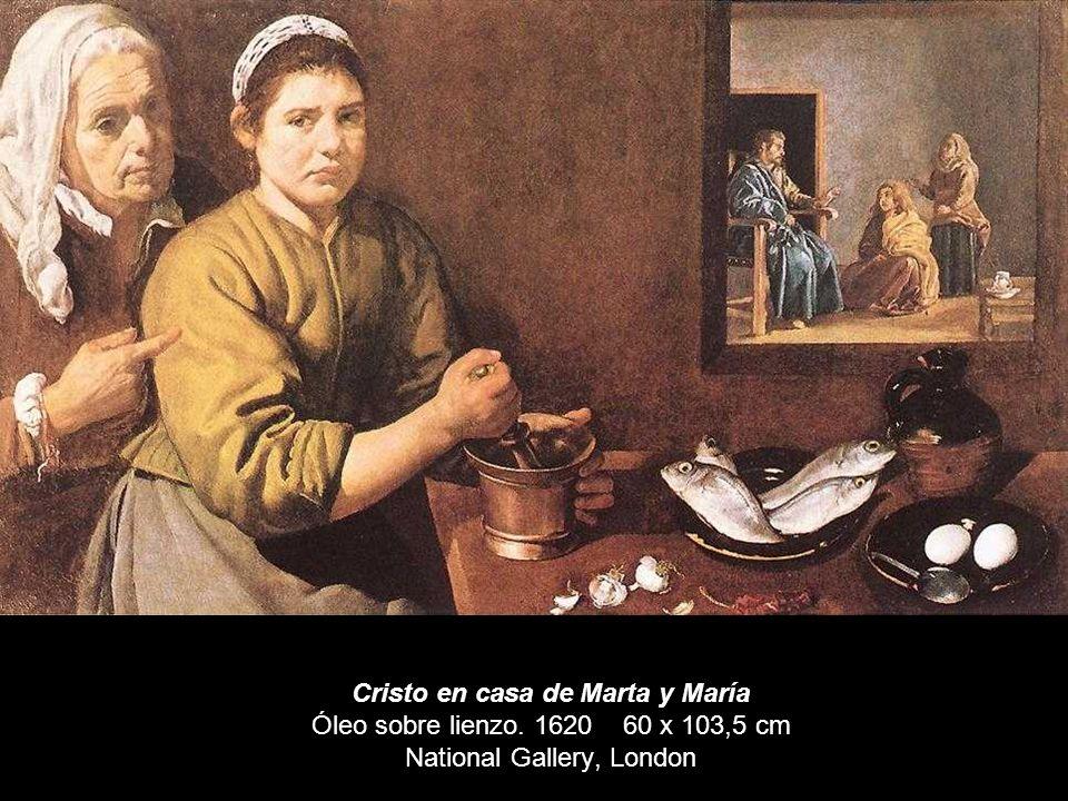 En él podemos ver una muchacha de color que esta preparando la cena. En el ángulo superior izquierdo se observa una escena a través de una ventana, es