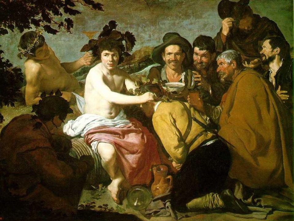 El Triunfo de Baco El encuentro con el pintor flamenco Rubens El encuentro con Rubens, que visita Madrid en 1628, le orientó hacia el humanismo y la m