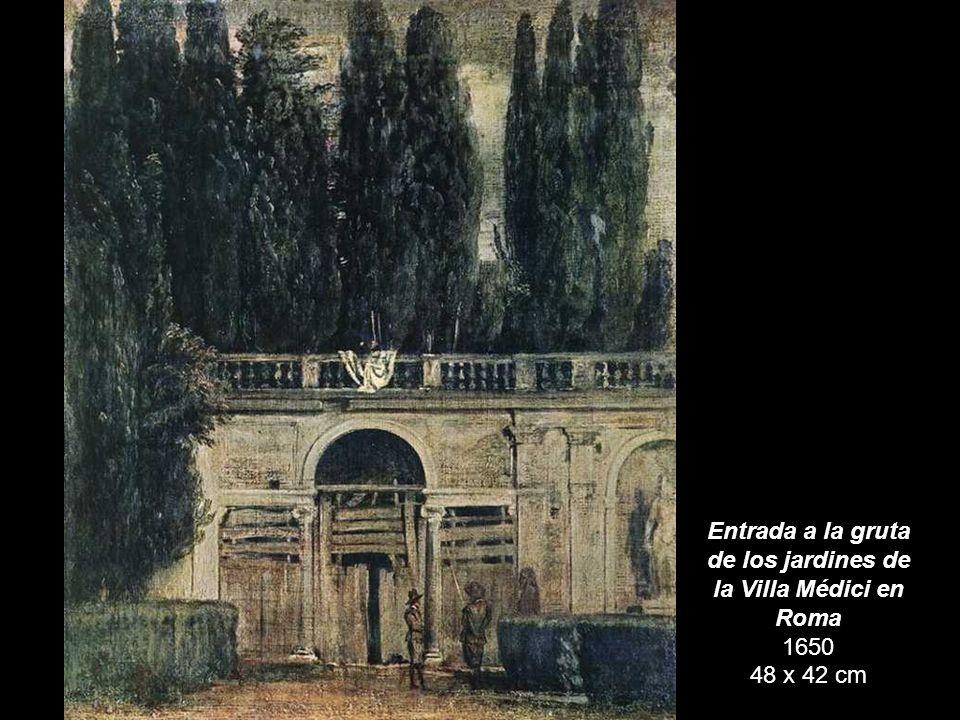 El pabellón Ariadna en el jardín Médici en Roma 1650-51 44 x 38 cm Museo del Prado, Madrid