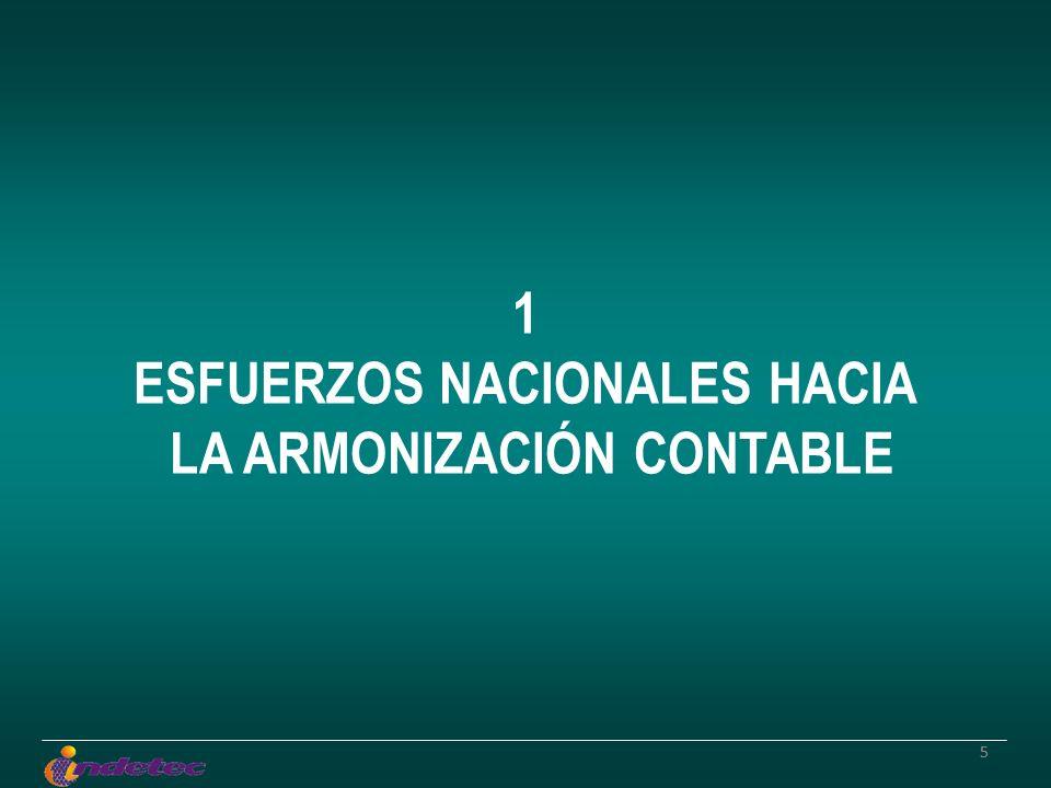55 1 ESFUERZOS NACIONALES HACIA LA ARMONIZACIÓN CONTABLE