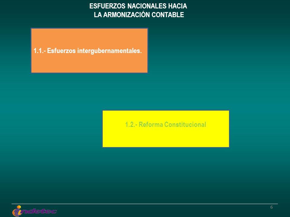 77 1.1.- Esfuerzos intergubernamentales: 1.1.1.- Grupos de Trabajo de la Comisión Permanente de Funcionarios Fiscales (CPFF).