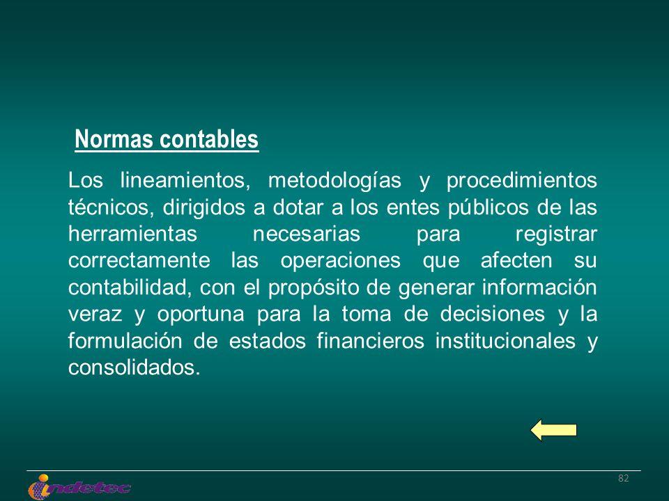 82 Los lineamientos, metodologías y procedimientos técnicos, dirigidos a dotar a los entes públicos de las herramientas necesarias para registrar corr