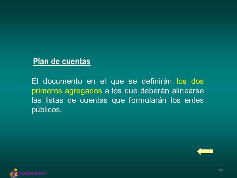 83 El documento en el que se definirán los dos primeros agregados a los que deberán alinearse las listas de cuentas que formularán los entes públicos.
