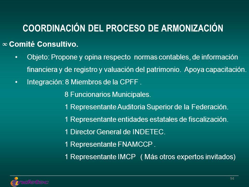 94 Comité Consultivo. Objeto: Propone y opina respecto normas contables, de información financiera y de registro y valuación del patrimonio. Apoya cap