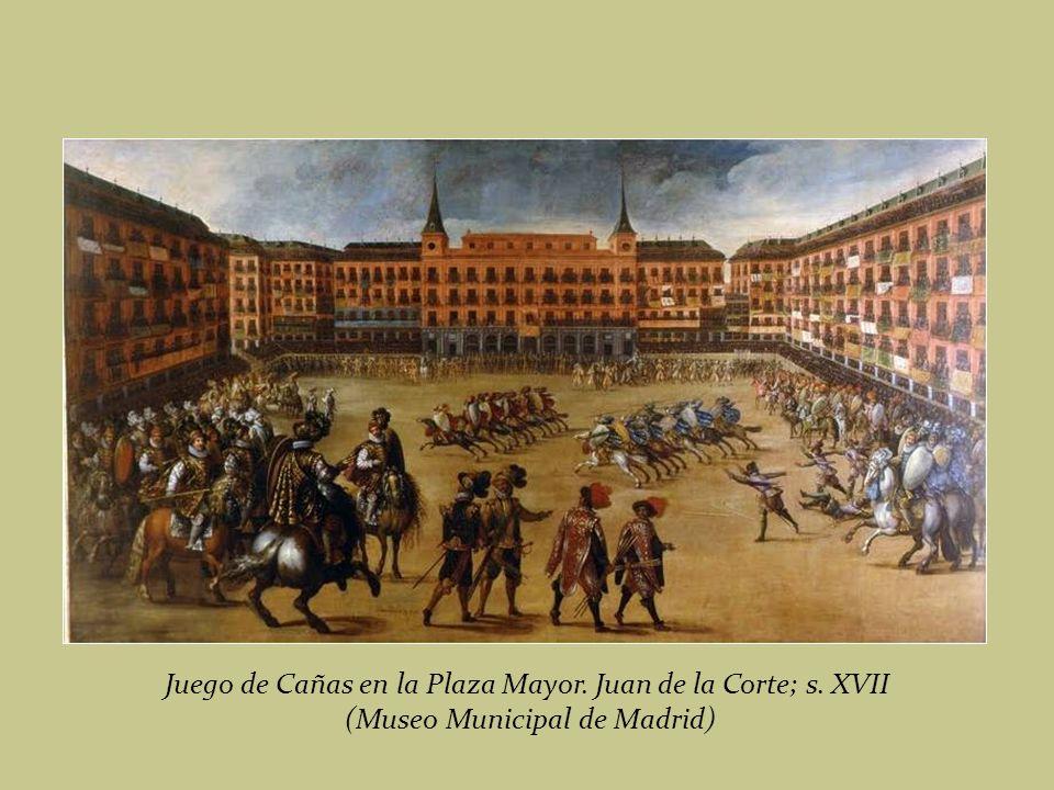 Vista de la Plaza Mayor de Madrid en 1623. Juan de la Corte; s. XVII (Museo Municipal de Madrid).