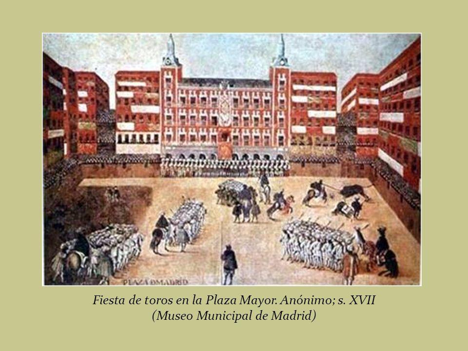 Detalle del cuadro Plaza Mayor de Juan de la Corte, 1623.