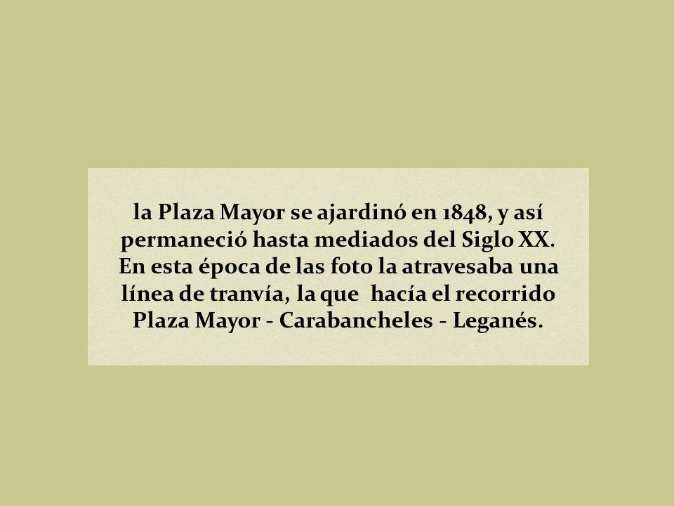 Plaza Mayor, finales del Siglo XIX. Hauser y Menet. Biblioteca Nacional (Madrid)