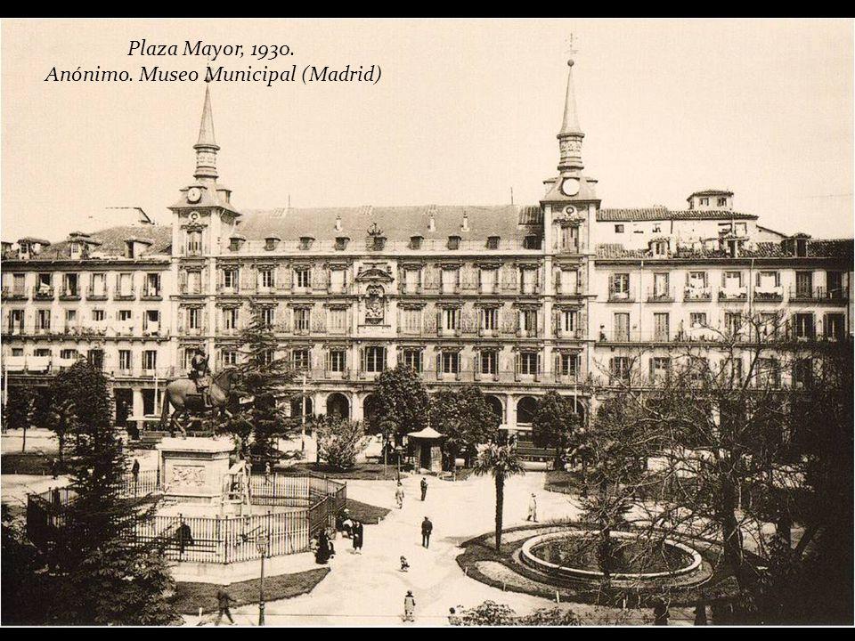 Vista de la Plaza Mayor desde la torre de la Iglesia de Santa Cruz, 1928. Corral. Museo Municipal (Madrid)
