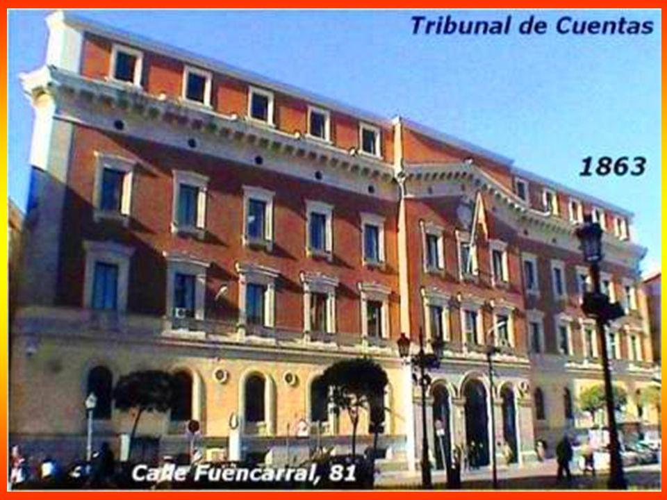 Congreso de los Diputados 1850 Su fachada principal a la Carrera de San Jerónimo, en la que resalta el pórtico de acceso corintio de seis columnas, re