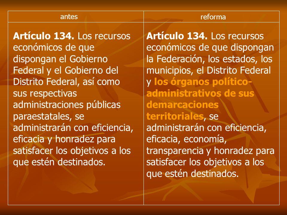 antes reforma Artículo 134.