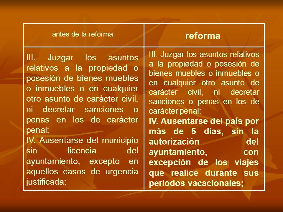antes de la reforma reforma III.