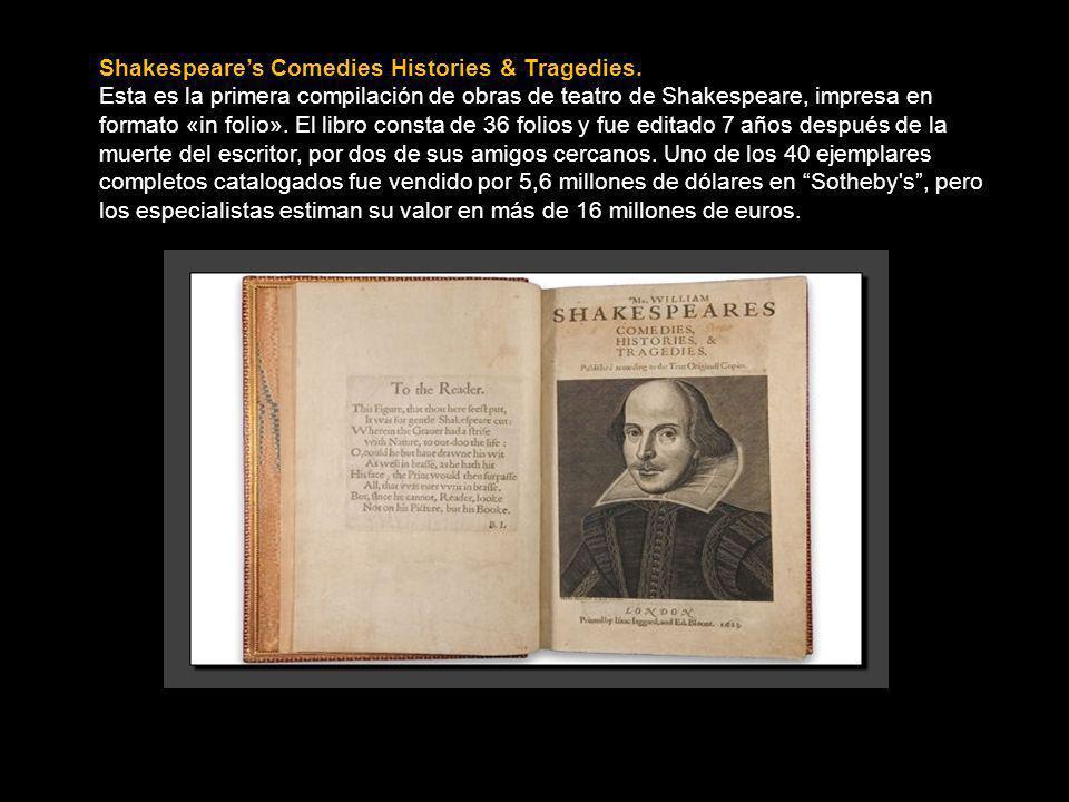 Shakespeares Comedies Histories & Tragedies.