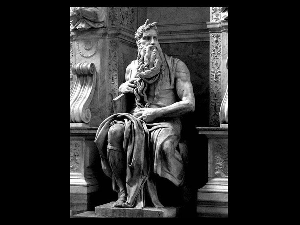 El Moisés lo realiza Miguel Ángel entre 1513 y 1515. Concebido en su inicio para la tumba del Papa Julio II en la Basílica de San Pedro, formaba parte