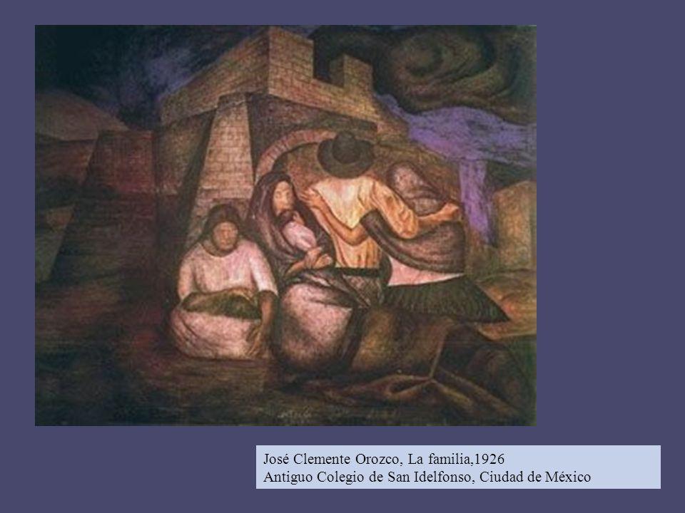 José Clemente Orozco, La familia,1926 Antiguo Colegio de San Idelfonso, Ciudad de México