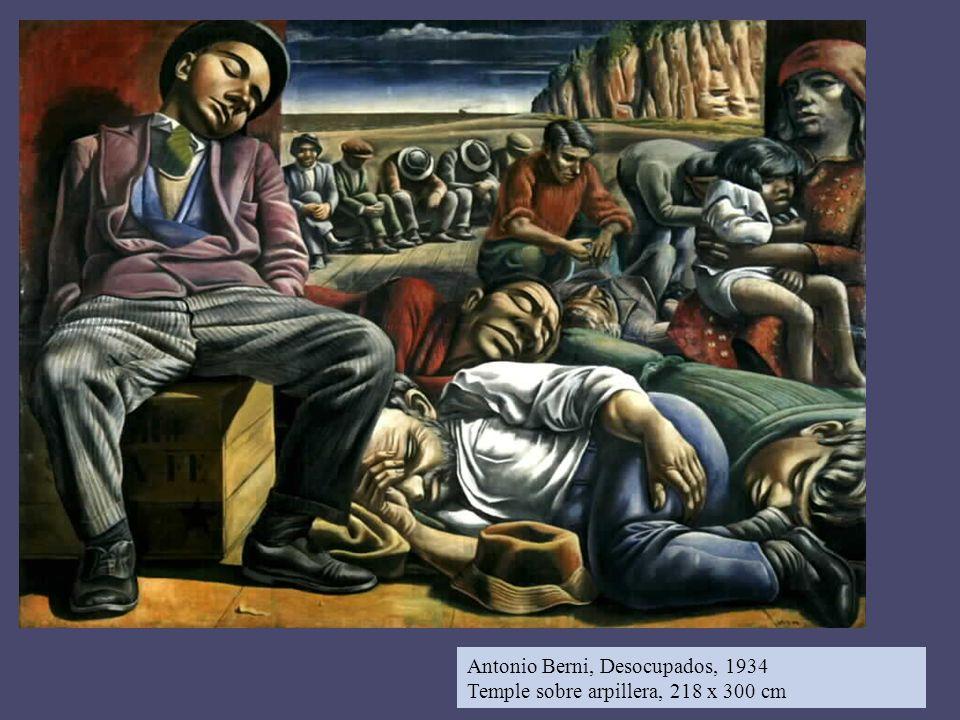 Antonio Berni, Desocupados, 1934 Temple sobre arpillera, 218 x 300 cm