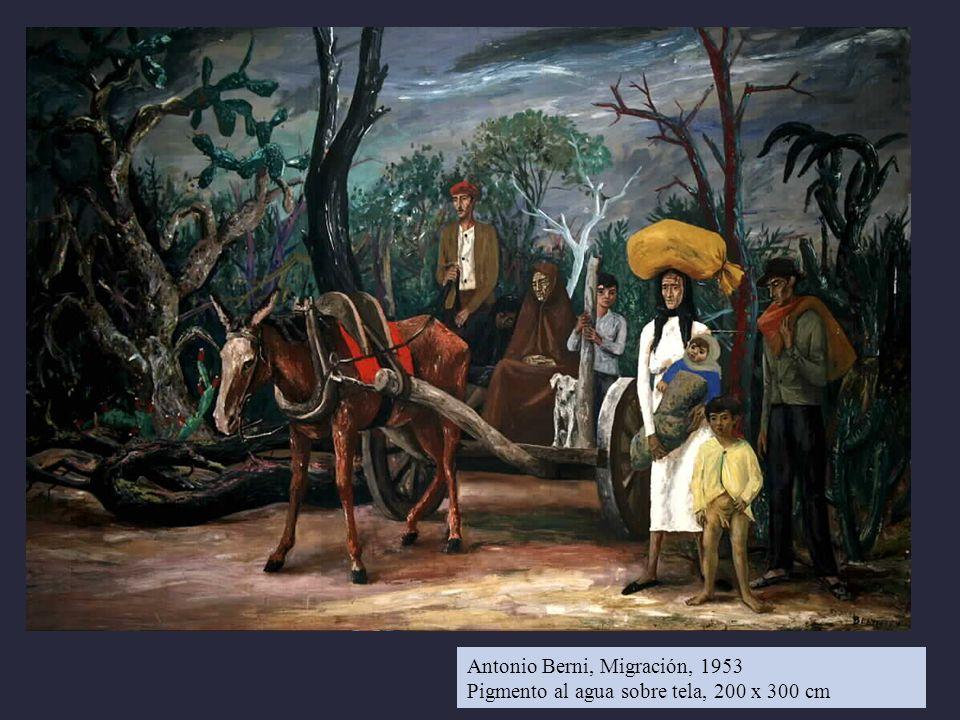Antonio Berni, Migración, 1953 Pigmento al agua sobre tela, 200 x 300 cm