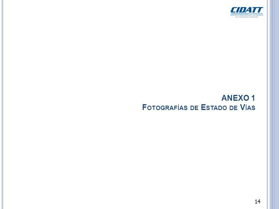 ANEXO 1 F OTOGRAFÍAS DE E STADO DE V ÍAS 14