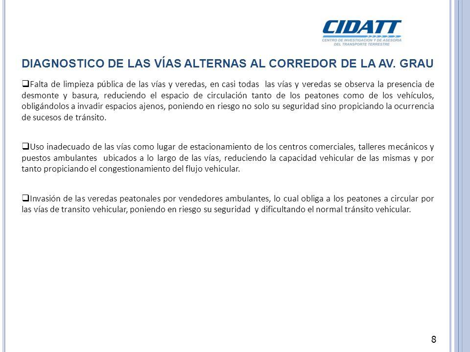 J R.A BTAO, CUADRA 4 Veredas y vías en pésimo estado de conservación.