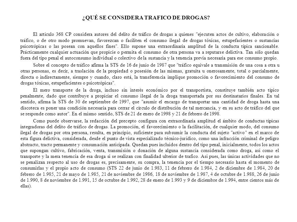 IMPUNIDAD DE LA TENENCIA PARA AUTOCONSUMO: CRITERIOS DE PRUEBA La tenencia de droga destinada al autoconsumo no constituye delito en España.