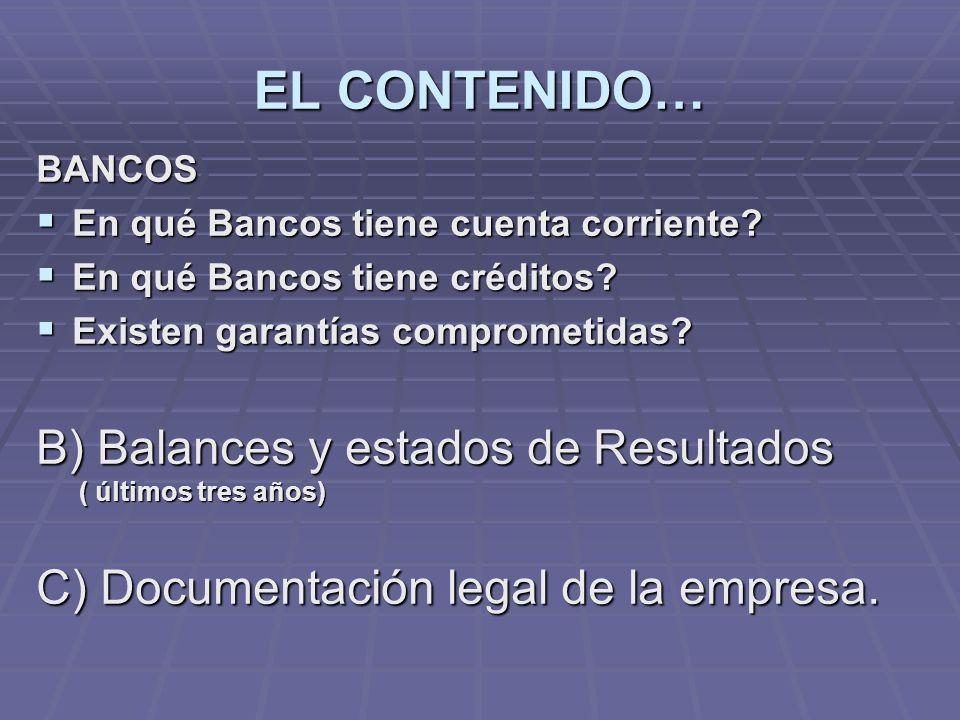 BANCOS En qué Bancos tiene cuenta corriente.En qué Bancos tiene cuenta corriente.