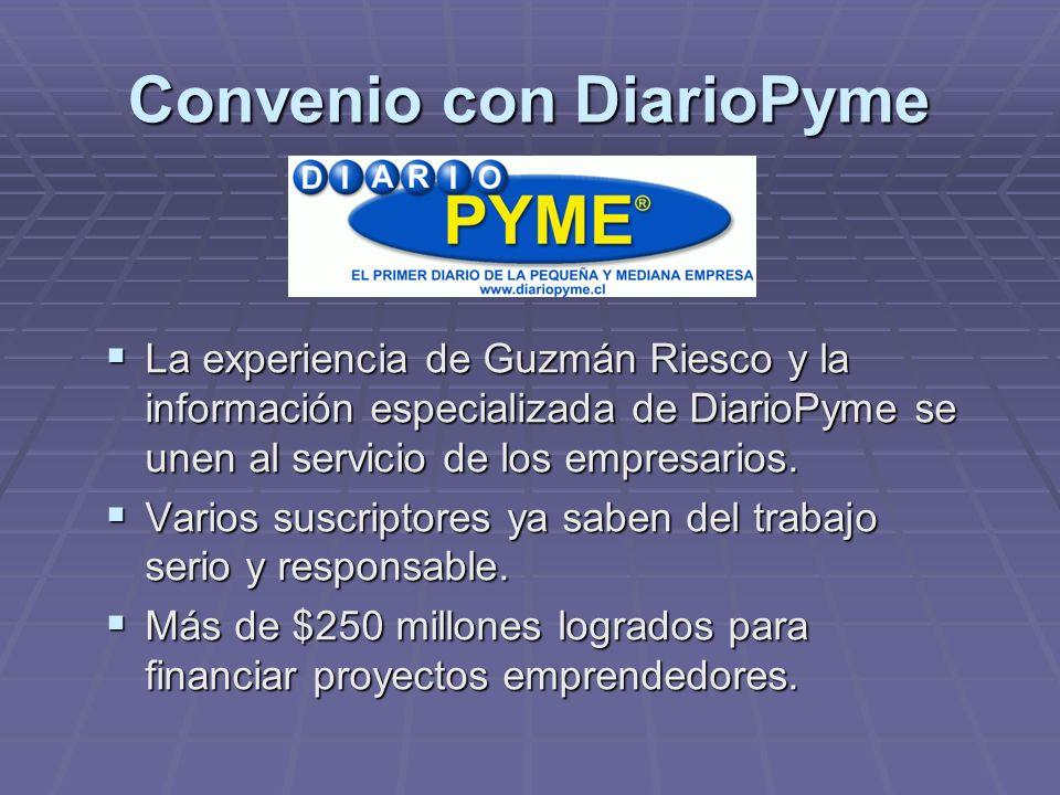 Convenio con DiarioPyme La experiencia de Guzmán Riesco y la información especializada de DiarioPyme se unen al servicio de los empresarios.