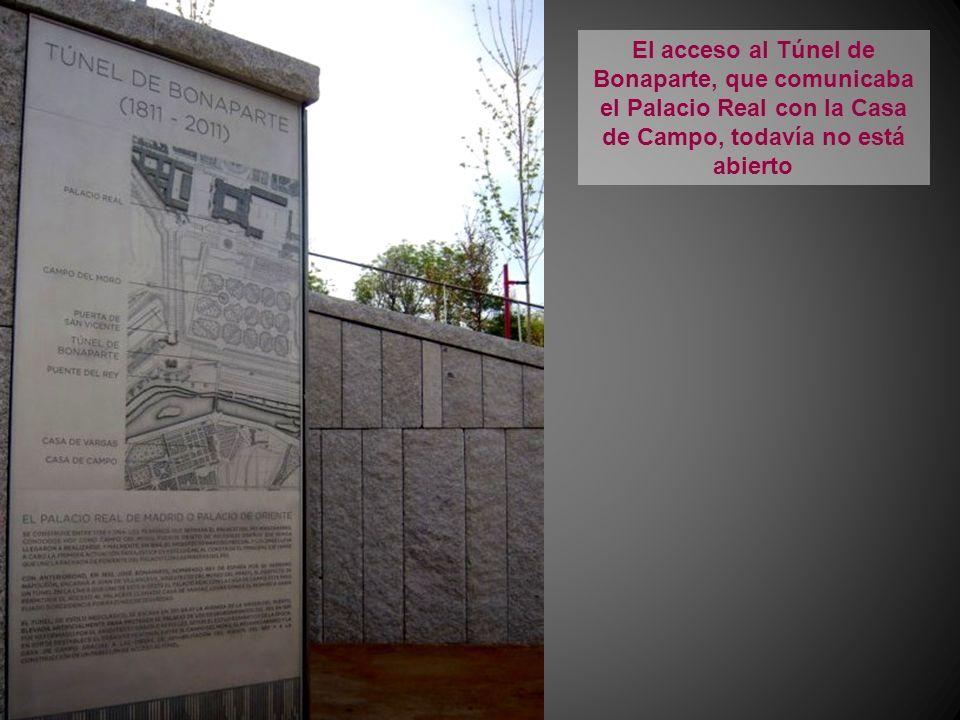 El acceso al Túnel de Bonaparte, que comunicaba el Palacio Real con la Casa de Campo, todavía no está abierto