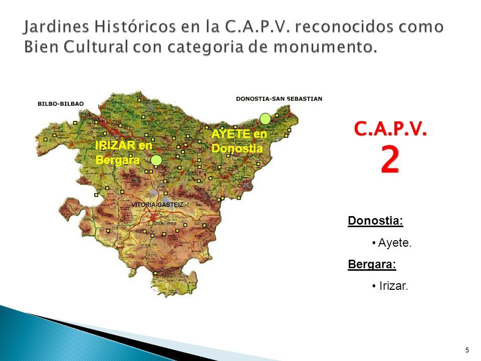 25 PROPOSICIÓN: PROTEGER LOS JARDINES (PARQUES) DE LA CASA DE UNTZETA Y DEL PALACIO DE ERREKALDE POR SERJARDINES HISTÓRICOS.