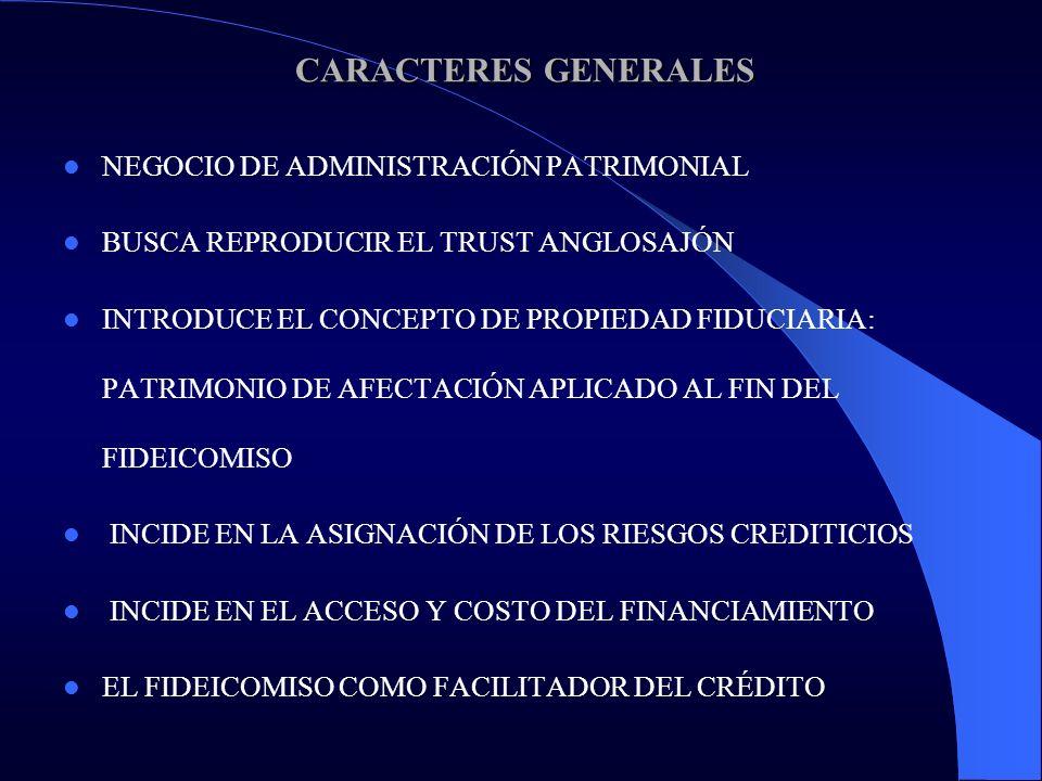 REFLEXIÓN FINAL REFLEXIÓN FINAL EL FIDEICOMISO CONSTITUYE UNA HERRAMIENTA VALIOSA PARA LA ACTIVIDAD COMERCIAL EN CUANTO REASIGNA LOS RIESGOS CREDITICIOS A TRAVÉS DEL BLINDAJE PATRIMONIAL DE DETERMINADOS ACTIVOS EL FIDEICOMISO FINANCIERO PERMITE ADEMÁS QUE LOS ACTIVOS FIDEICOMITIDOS SEAN OBJETO DE INVERSIÓN A TRAVÉS DEL MERCADO LA SECURITIZACIÓN DE ACTIVOS Y FLUJOS DE FONDOS A TRAVÉS DE FIDEICOMISOS FINANCIEROS BRINDA UNA EXCELENTE OPORTUNIDAD DE ACCESO Y MEJORAMIENTO CREDITICIO DE LOS AGENTES ECONÓMICOS, EN MOMENTOS DE RETRACCIÓN CREDITICIA.