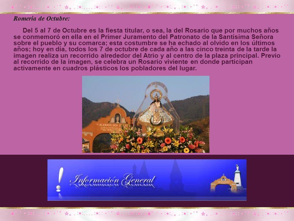 Romería de Septiembre: El día 10 de septiembre en que para preparar la imagen se le da el conocido Baño de la Virgen de cuyo acto de 1993 hacia atrás